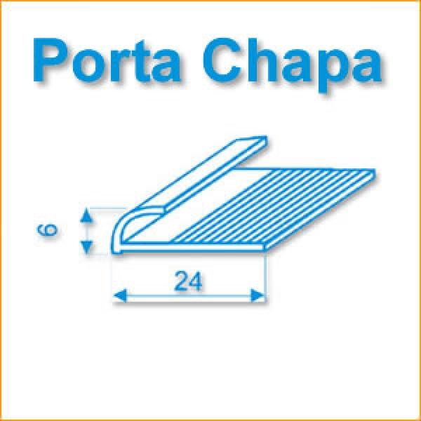PERFIL J - PORTA CHAPA